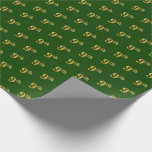 [ Thumbnail: Green, Faux Gold 9th (Ninth) Event Wrapping Paper ]