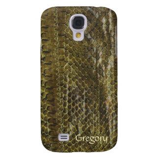 Green Faux Snakeskin Samsung Galaxy S4 Case