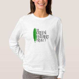 Green Feathers Long Sleeve Shirt