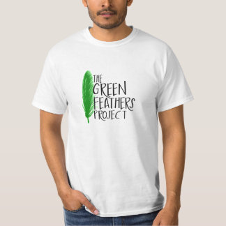 Green Feathers Project T-Shirt (White)