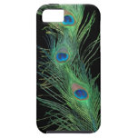 Green Feathers with Black iPhone 5 Cover