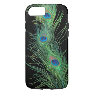 Green Feathers with Black iPhone 7 Case