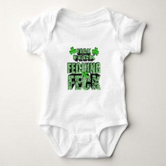 green feck with shamrock baby bodysuit