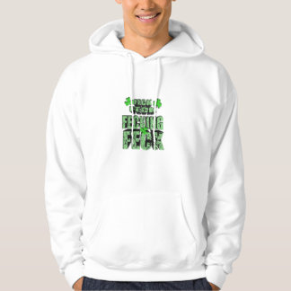 green feck with shamrock pullover