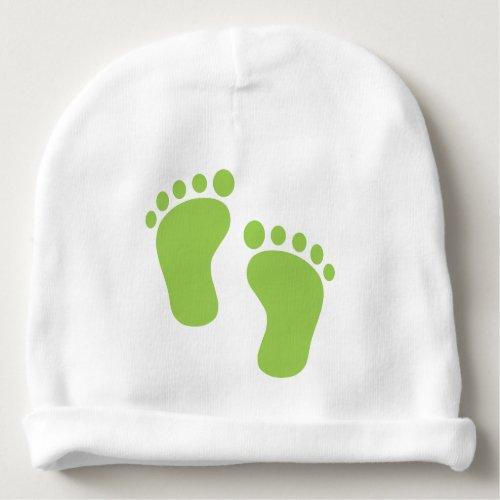GREEN FEET BABY BEANIE