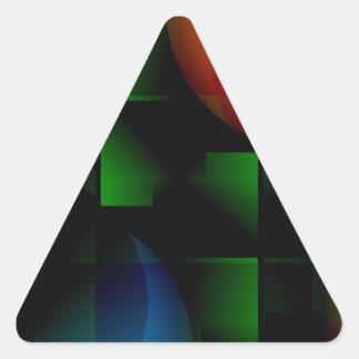 Green Felt Table Triangle Sticker
