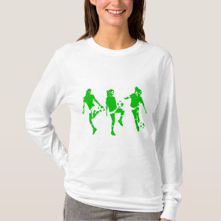 Green Female Soccer Skills T-Shirt