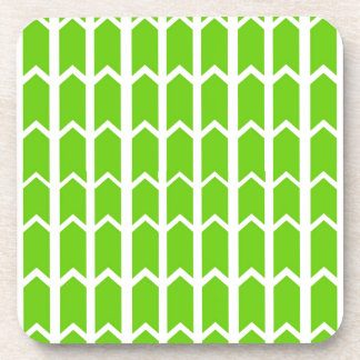 Green Fence Panel Beverage Coaster