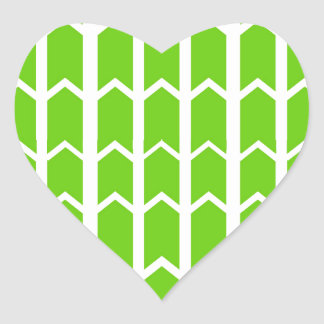 Green Fence Panel Heart Sticker