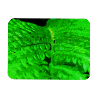 Green Fern Abstract Impressionism Magnet