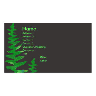 Green Fern Double-Sided Standard Business Cards (Pack Of 100)