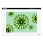 "Green Fern Garden Mandala Decal Skin Decals For 15"" Laptops"