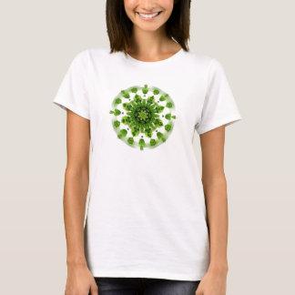 Green Fern Garden Mandala Shirt