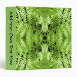 Green Fern Leaves, Digital Art Pattern. Binders