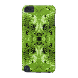 Green Fern Leaves, Digital Art Pattern. iPod Touch 5G Cover