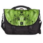 Green Fern Leaves, Digital Art Pattern. Bags For Laptop