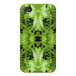 Green Fern Leaves, Digital Art Pern. Covers For iPhone 4