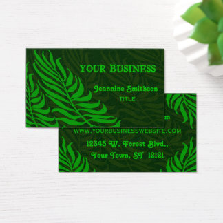 Green Fern Leaves Nature Environmental Business Card