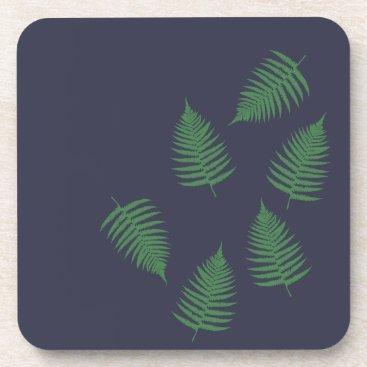 loscrazyavocados Green Fern Lucky Set of Coasters