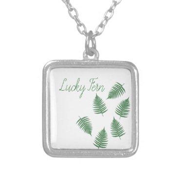 loscrazyavocados Green Fern Lucky Sterling Silver Necklace