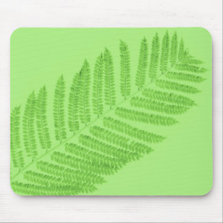 Green Fern Mouse Pad