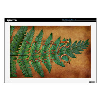 "Green Fern Planet-lover Earth Day Decal Decal For 17"" Laptop"