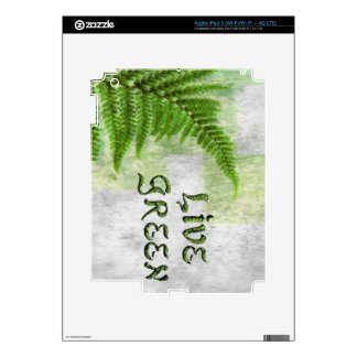 Green Fern Planet-lover Earth Day Decal Decals For iPad 3