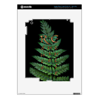 Green Fern Planet-lover Earth Day Decal Skin For iPad 3