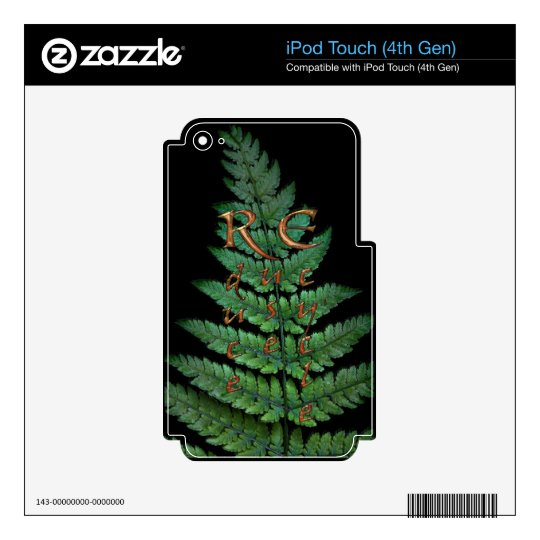 Green Fern Planet-lover Earth Day Decal Skin For iPod Touch 4G