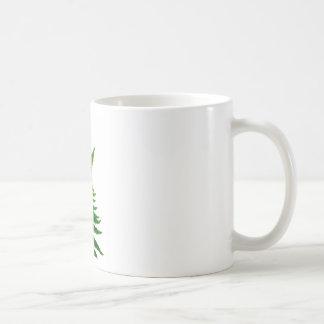 Green Fern prints Woodlands Leaf Coffee Mug