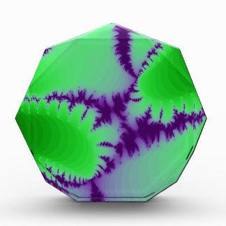 Green Fern Purple Backdrop Acrylic Award