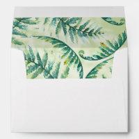 Green Fern Watercolor Envelopes
