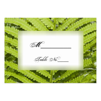 Green Fern Wedding Place Cards Large Business Cards (Pack Of 100)