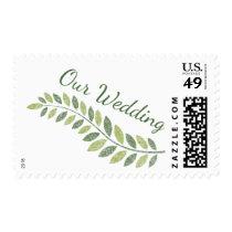 Green Fern Wedding Stamp