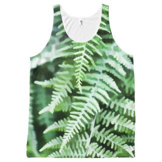 Green Ferns Illustration All-Over-Print Tank Top