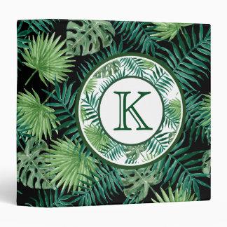Green Ferns Monogram Binder