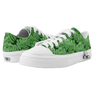 Green Ferns Nature Pattern Low-Top Sneakers