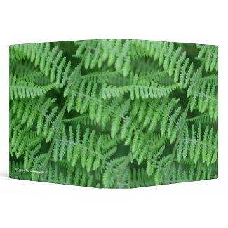 Green Ferns Photo School Business Avery Binder binder