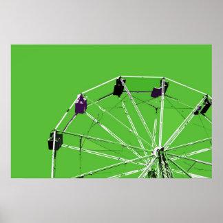 Green Ferris Wheel Poster