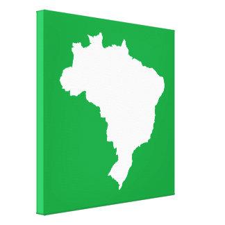 Green Festive Brazil at Emporiomoffa Canvas Print