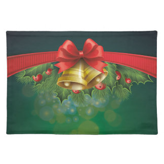 Green festive Placemate Placemat