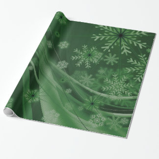 Green Festive Wrapping Paper