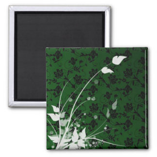 Green Field 2 Inch Square Magnet