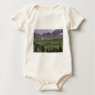 Green Field and Mountain Baby Bodysuit