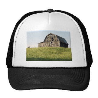 Green Field And Old Barn Trucker Hat