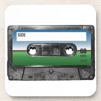 Green Field Horizon Cassette Coaster