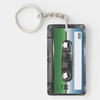 Green Field Horizon Cassette Keychain