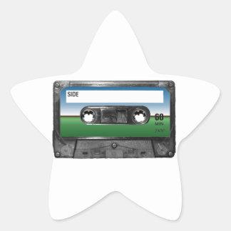 Green Field Horizon Cassette Star Sticker