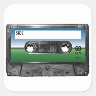 Green Field Horizon Cassette Stickers
