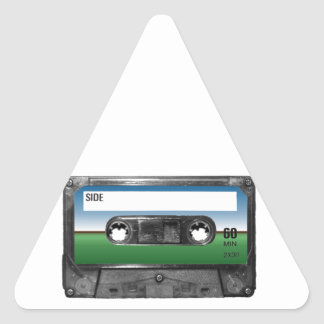 Green Field Horizon Cassette Triangle Sticker